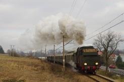 Zimowy pociąg retro do Zakopanego.