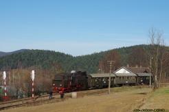 Mikołajowy pociąg retro z Kasiny Wielkiej